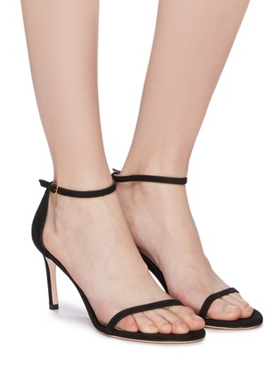Figure View - Click To Enlarge - STUART WEITZMAN - 'Nudist' ankle strap suede sandals