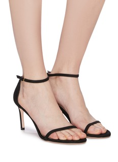 Stuart Weitzman 'Nudist' ankle strap suede sandals