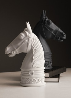 L'Objet Horse bookend – Black