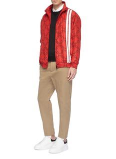 Valentino 'VLTN Grid' print stripe silk track jacket