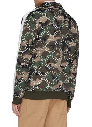 Back View - Click To Enlarge - Valentino - 'VLTN Grid' camouflage print track jacket