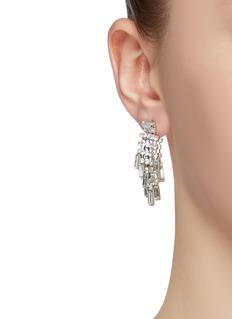 Venna Glass crystal drop earrings