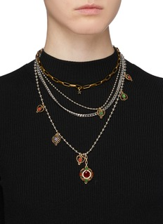 Venna Pendant charm multi chain tiered necklace