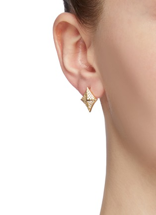 Front View - Click To Enlarge - Venna - Glass crystal detachable drop earrings