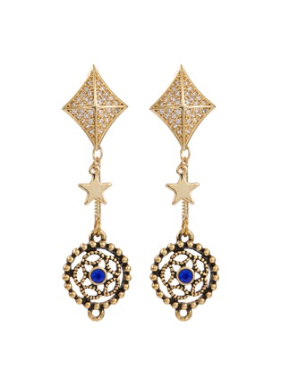 Main View - Click To Enlarge - Venna - Glass crystal detachable drop earrings