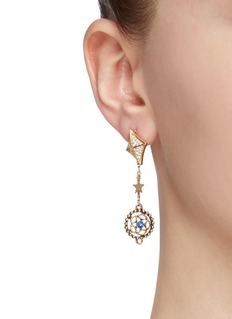 Venna Glass crystal detachable drop earrings
