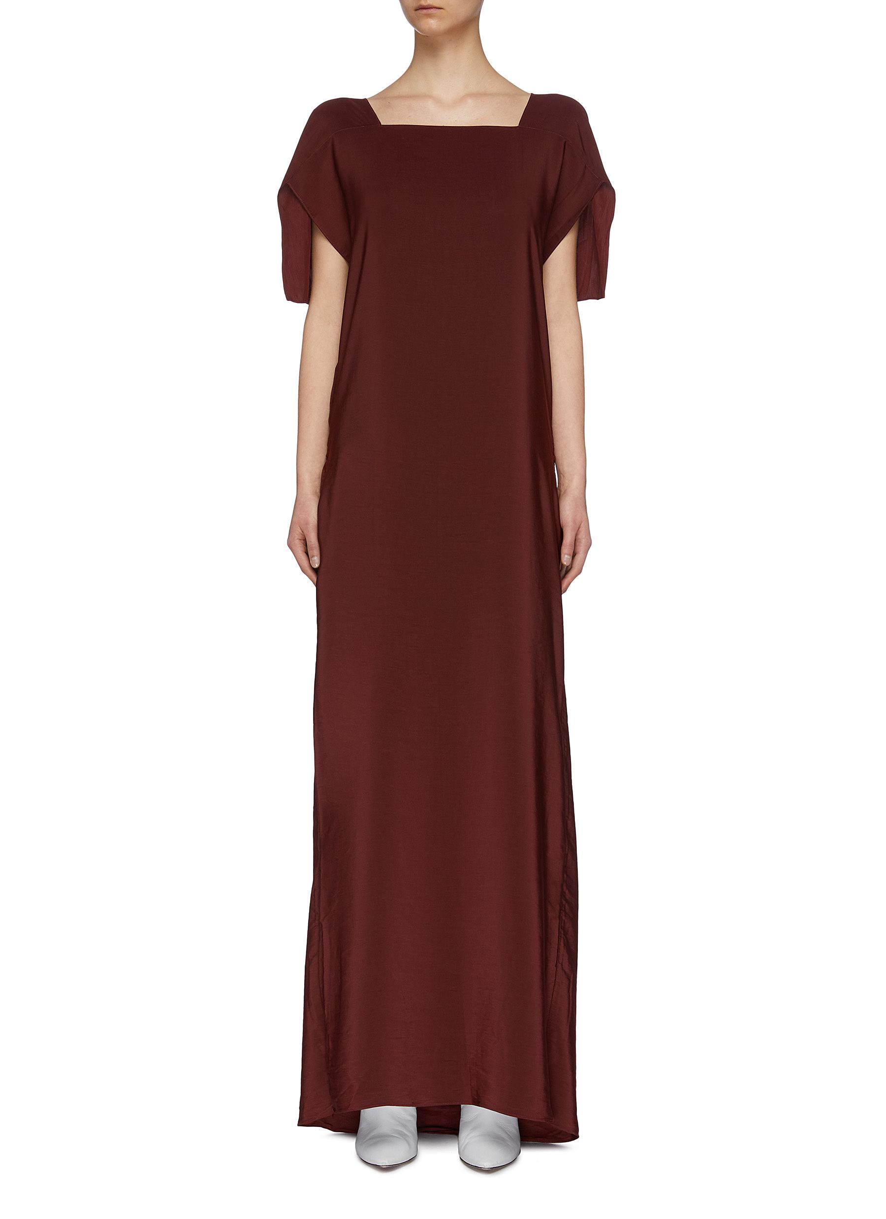 Calabash convertible crepe maxi dress by The R Collective