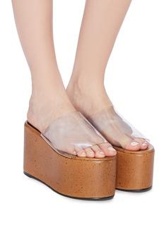 SIMON MILLER 'Blackout' PVC band confetti flatform sandals