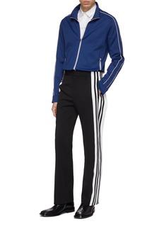 Balenciaga Snap button stripe outseam twill pants
