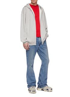 Balenciaga Rose print back zip hoodie
