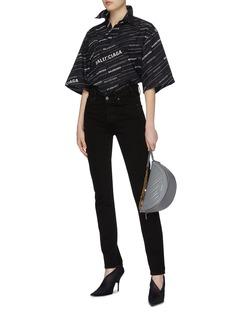 Balenciaga Notched waist skinny jeans