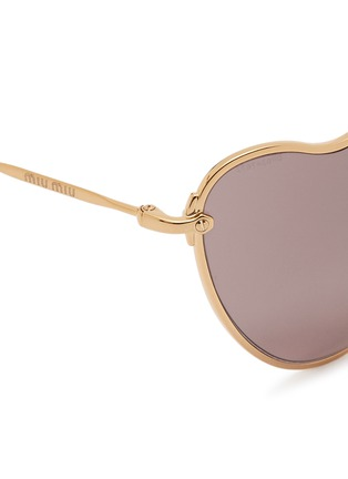 Detail View - Click To Enlarge - miu miu - 'Scenique' metal wavy cat eye sunglasses