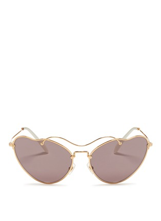 Main View - Click To Enlarge - miu miu - 'Scenique' metal wavy cat eye sunglasses