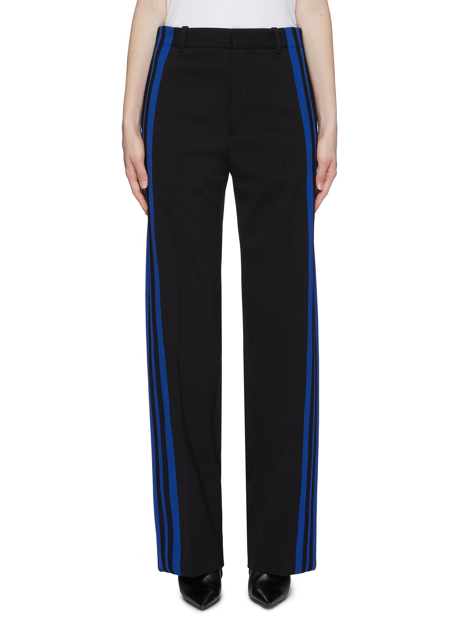 261b43f581 BALENCIAGA | Stripe outseam button cuff jogging pants | Women | Lane ...