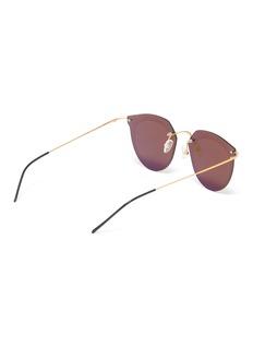 PRIDE Eyewear Engraved border rimless panto sunglasses