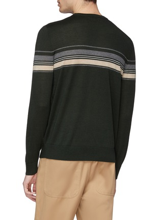 Back View - Click To Enlarge - EQUIL - Stripe wool blend sweater