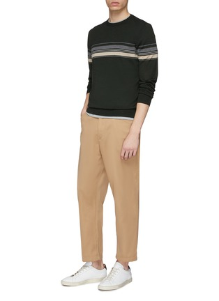 Figure View - Click To Enlarge - EQUIL - Stripe wool blend sweater