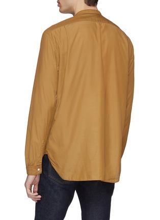 Back View - Click To Enlarge - CAMOSHITA - Mandarin collar cupro-cotton shirt