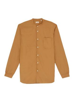 Main View - Click To Enlarge - CAMOSHITA - Mandarin collar cupro-cotton shirt