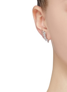CZ by Kenneth Jay Lane Cubic zirconia curved earrings
