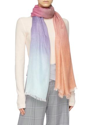 Figure View - Click To Enlarge - FALIERO SARTI - 'Hella' dégrade cashmere-silk scarf
