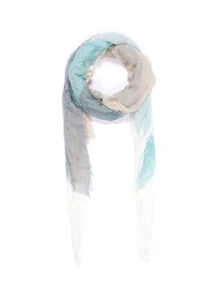 Main View - Click To Enlarge - FALIERO SARTI - 'Minu' colourblock semicircle print modal-cashmere scarf