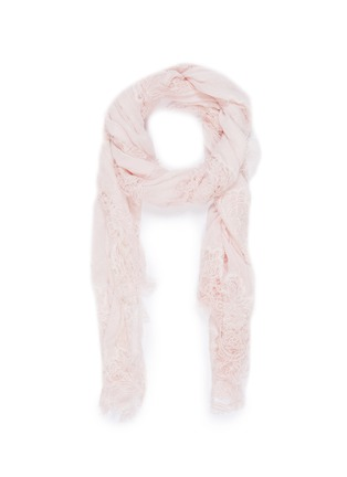 Main View - Click To Enlarge - FALIERO SARTI - 'Jolie' Chantilly lace border gauze scarf