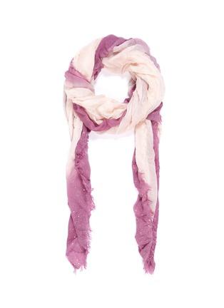 Main View - Click To Enlarge - FALIERO SARTI - 'Valeria' ombré border gauze scarf
