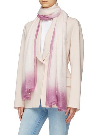 Figure View - Click To Enlarge - FALIERO SARTI - 'Valeria' ombré border gauze scarf
