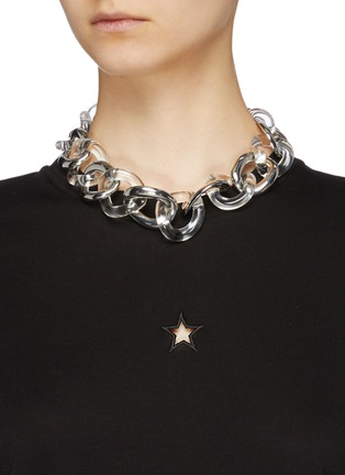 Figure View - Click To Enlarge - KENNETH JAY LANE - Chunky link chain necklace