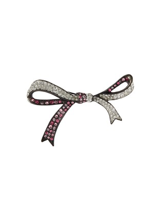 Main View - Click To Enlarge - KENNETH JAY LANE - Glass crystal ribbon pin
