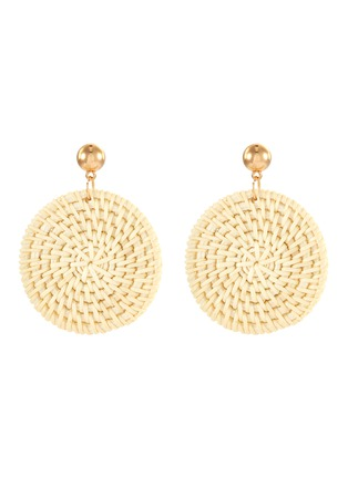 Main View - Click To Enlarge - KENNETH JAY LANE - Rattan circle drop earrings