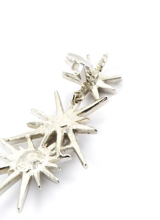 Detail View - Click To Enlarge - KENNETH JAY LANE - Glass crystal starburst link drop clip earrings