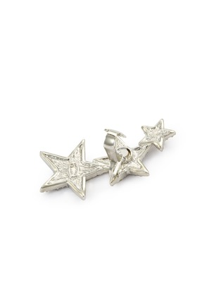 Detail View - Click To Enlarge - Kenneth Jay Lane - Glass crystal star clip earrings