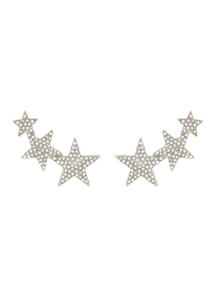 Main View - Click To Enlarge - Kenneth Jay Lane - Glass crystal star clip earrings