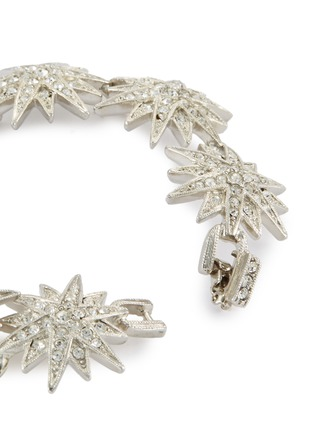 Detail View - Click To Enlarge - KENNETH JAY LANE - Glass crystal starburst link chain bracelet