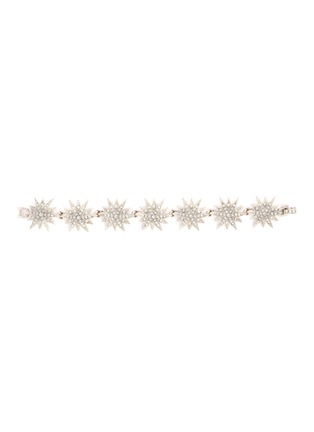Main View - Click To Enlarge - KENNETH JAY LANE - Glass crystal starburst link chain bracelet