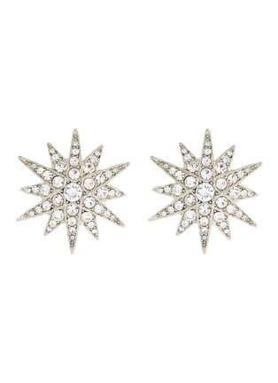 Main View - Click To Enlarge - KENNETH JAY LANE - Glass crystal starburst stud clip earrings