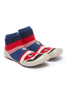 Collégien Superman intarsia toddler sock knit sneakers