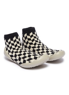 Collégien Geometric intarsia toddler sock knit sneakers