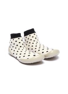 Collégien Polka dot intarsia toddler sock knit sneakers