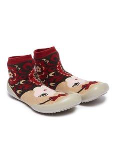 Collégien Princess intarsia toddler sock knit sneakers