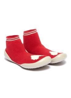 Collégien Heart intarsia toddler sock knit sneakers