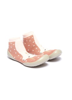 Collégien Unicorn intarsia toddler sock knit sneakers