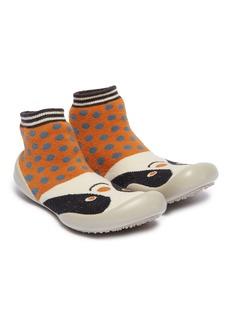 Collégien Panda intarsia toddler sock knit sneakers