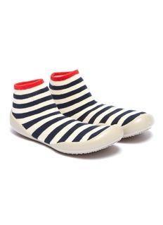Collégien Stripe intarsia toddler sock knit sneakers