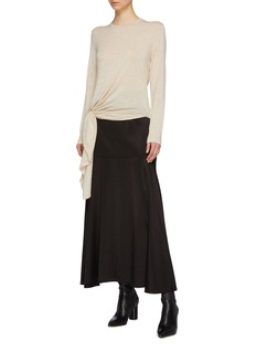EQUIL Ring buckle drape wool sweater