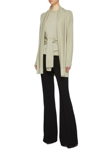 EQUIL Shawl lapel wool-silk-cashmere cardigan
