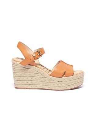 5f043abc29c 'Maura' leather espadrille wedge sandals