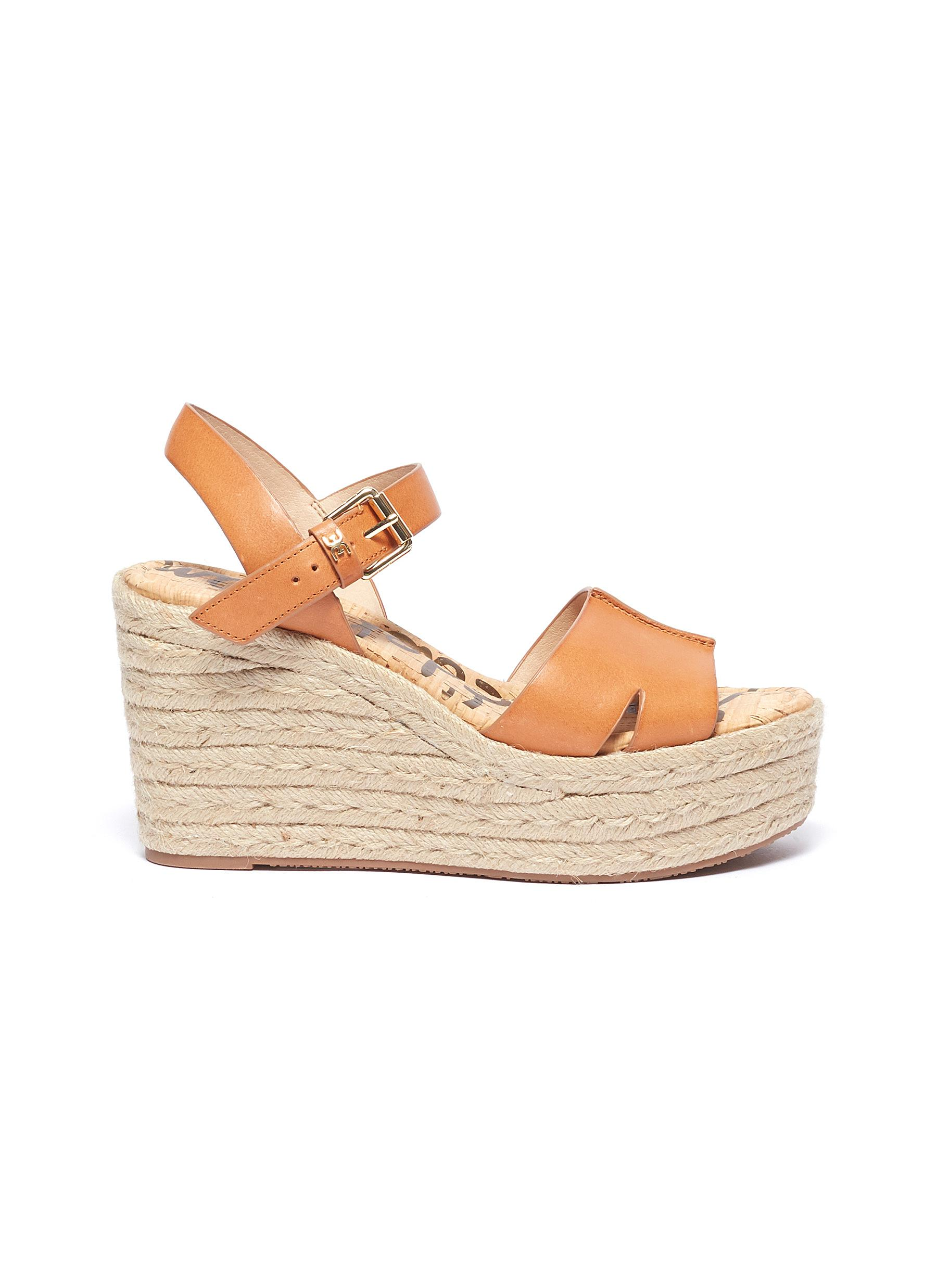 2eae89947fc Sam Edelman.  Maura  leather espadrille wedge sandals